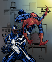 Spidey vs. Venom by SparkStudios