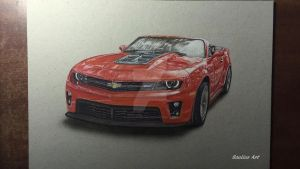 Photorealistic drawing - Chevrolet ZL1 + video by Saules-dievas