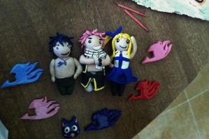 Fairy Tail clay stuff by rockleeninjapals