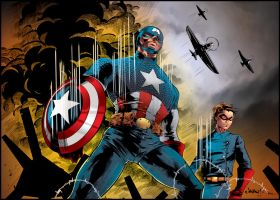 Captain America WWII by MindWinder