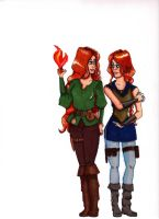 Iseult And Isabeau Concepts by celticfaery