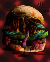 D is for Deadly Double Cheese Burger by Marioshi64
