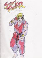 Street Fighter 1 Ken by Hellstinger64