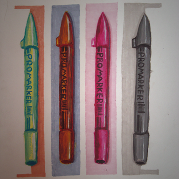 Pop-art markers by Aversnya