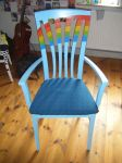 Rainbow chair by Signe-the-muggle