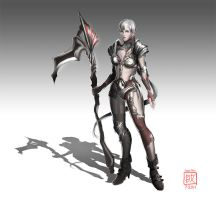 Human Female Knight Concept by inxj
