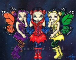 Three Wise Faeries by jasminetoad