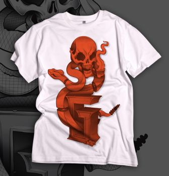 skull tee's by PudgyDevilKid