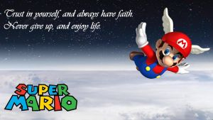 Super Mario Inspirational Wallpaper Alternate by JanetAteHer