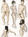 Ink and Watercolor Nudes 6 by zacharyknoles