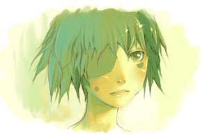 generic female anime face by virvel