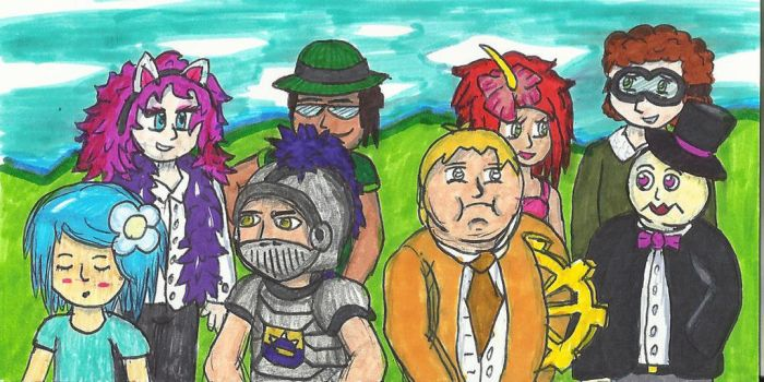 Humanized Party Members - Renleixue Gift by ProtoTypedKnife