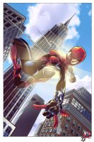 Spider Girl - Racing the Sun by BDStevens