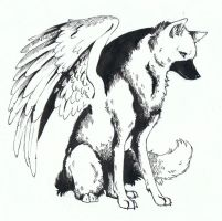 Winged wolf request by bluemist72