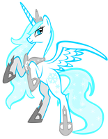 MLP OC: Princess Shimmerflake by lizzytheviking