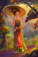Kyaing tong Princess by webang111