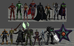 Justice and Injustice League by Kaiology