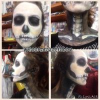 Skull make up by CosplayQueendom