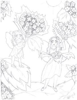 Fairy Sisters- Pencil by hillary86