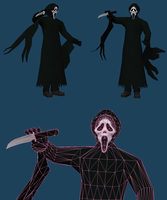 Ghostface papercraft by javierini
