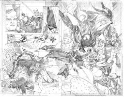 Batgirl Double Spread by ardian-syaf