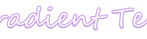 Gradient Text by edithnyt