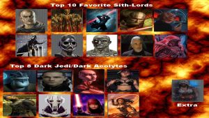 Top Ten sith and top 8 dark jedi by TMDarth11