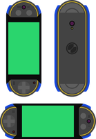PET Phone Concept (MegaMan.EXE colors) by ShiningWingPony