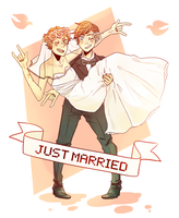 A Juggey Wedding (Commission) by pikmama