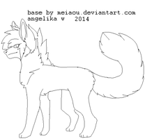 chibi scene emo canine bases MSpaint compatible by tygryis