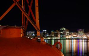Halifax Skyline At Night by mhsinger
