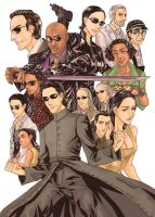 The Matrix characters by juliuspetri