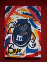 Blue Picasso M and M by supersmeg123