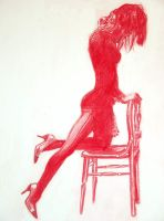 red chair by rolfness