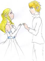 Zelda and Link-Take my Hand by OwlLisa