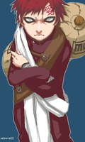 Gaara of the Desert by setsuna22