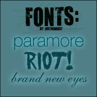 Paramore Fonts by justaghoost
