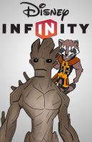 Rocket and Groot by momarkey