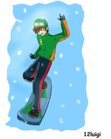 Luigi- winter sport by 12luigi