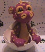 polymer clay dragon cinnamon by crazylittlecritters