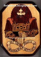 Thor Pyrography by DebsDen