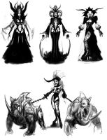 Lilith Demon Princess Sketches by Robotpencil