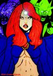 Madelyne Pryor And The Demonic Inferno by kiss-lamia-lilith