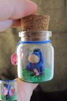 Eeyore Bottle Art by egyptianruin