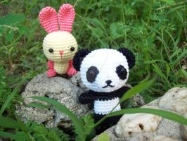 bunny and panda 3 by oddSpaceball