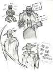 Killer Croc and Scarecrow Sketches by rchlisawesome