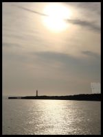 Ligthouse vs Setting Sun by LotusGrisDesign