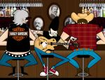 at the bar by kungfumonkey