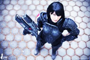 Commander Shepard Cosplay photo by greencat by Evil-Siren