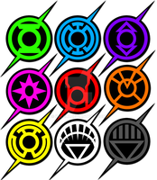 the flash lantern corp logo spectrum by KalEl7